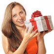 Young woman with present - Photo