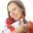 Young woman with present - Foto de Stock