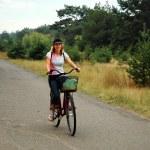 Girl relax biking — Stock Photo