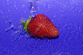 Water drops on strawberry — Stock Photo