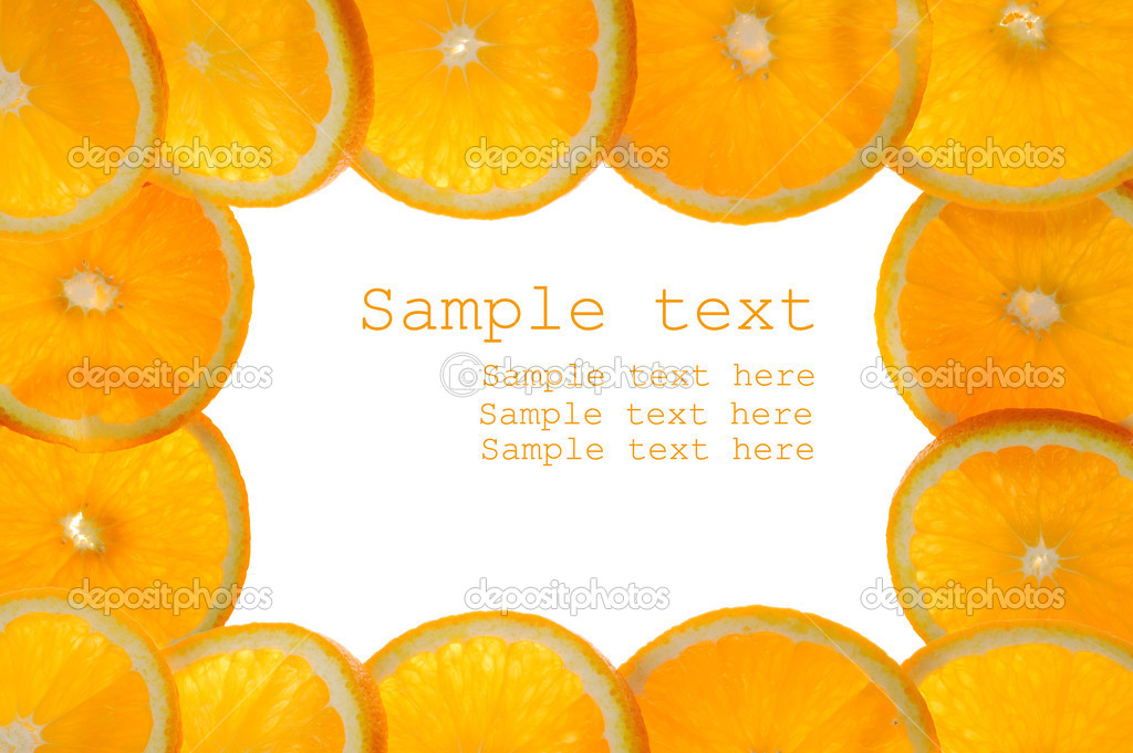 Frame made of sliced juicy oranges — Stock Photo #2672334