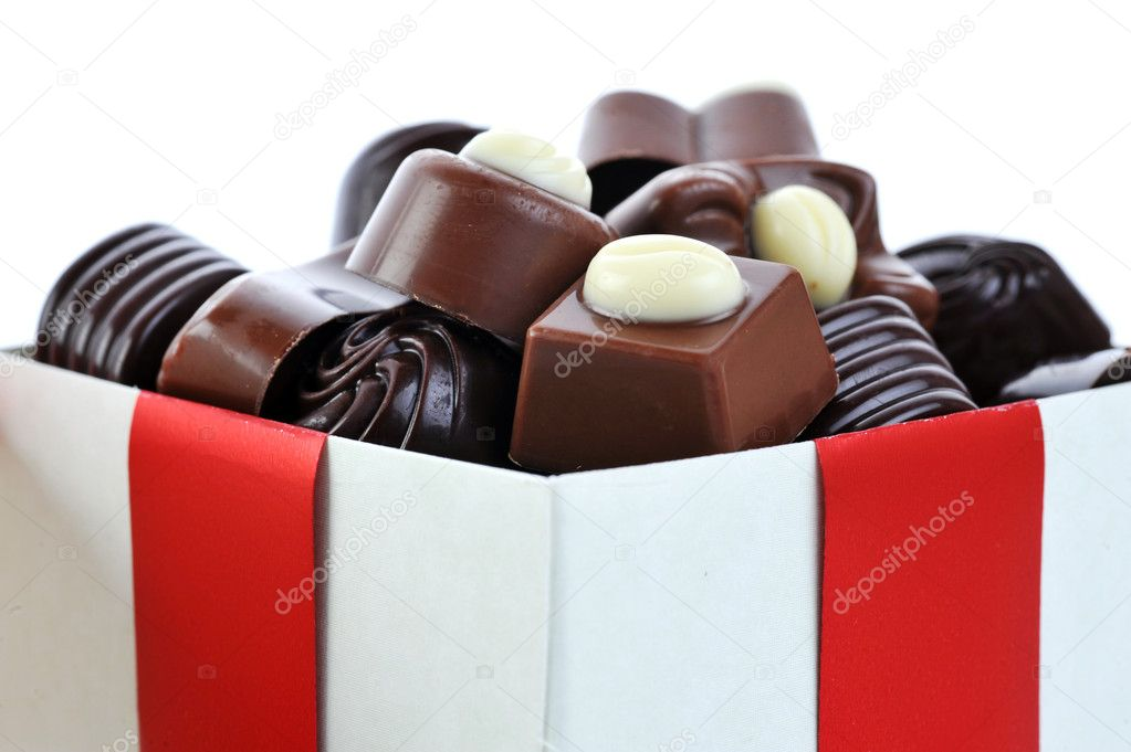Different chocolate in gift box — Stok fotoğraf #2672540