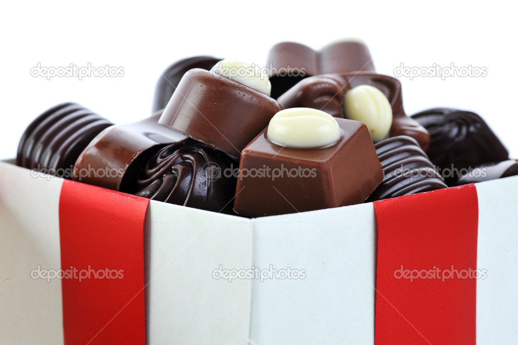 Different chocolate in gift box  Stock Photo #2672540