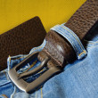 Jeans with belt - Stock Photo