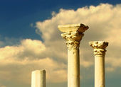 Antique marble columns — Stock Photo