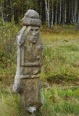 Slavonic xoanon idol — Stock Photo