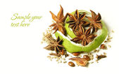 Anise star over white background — Stock Photo