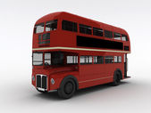 Red English double-decker isolated on white background — Stock Photo