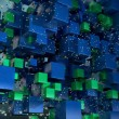 Cube particles background - Foto Stock