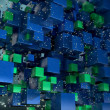 Cube particles background - Stockfoto