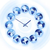 World time clock — Stock Photo