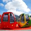 International cable cars - Stock Photo