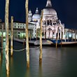 Santa Maria della Salute church at night — Stock Photo