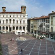 Square in Bergamo - Stock Photo