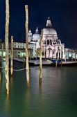 Santa maria della salute kościoła w nocy — Zdjęcie stockowe