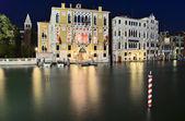 Canal Grande in der Nacht — Stockfoto