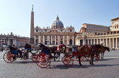 St. Peter' Square, Vatican — Stock Photo