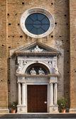 Church portal, Salo, Italy — Stock Photo