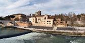 Isola Tiberina, Roma — Stock Photo