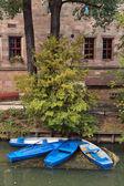 Blå båtar — Stockfoto