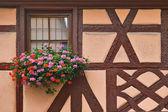 Timber-frame window — Stock Photo