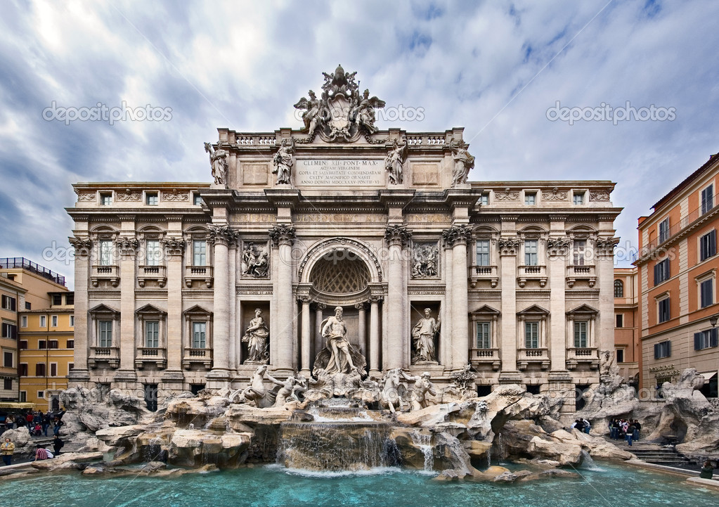 Famous fountain Trevi, Roma, Italy — Stock Photo #2675429