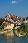Danube banks in Regensburg — Stock Photo