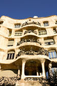 Facade of Cada Mila or La Pedrera — Stock Photo