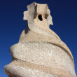 Chimney anthropomorphic by Gaudi - Zdjcie stockowe