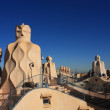 Terrace of Casa Mila by Gaudi — Stock Photo