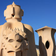 Soldier chimney by Gaudi, Barcelona - Stock Photo