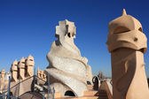 Sagrada Familia from La Pedrera — Stock Photo