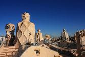 Terrace of Casa Mila by Gaudi — Stock Photo