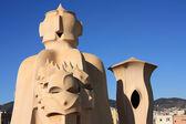 Soldier chimney by Gaudi, Barcelona — Stock Photo