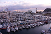 Barcelona, port. Panoramic city. — Stock Photo