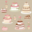 Pies and cakes — Stock Vector #2573646