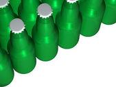 Green Beer Bottles — Stock Photo