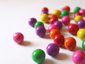Scattered color gum — Stock Photo