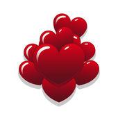 Heart Balloons — Stock Vector