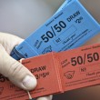 Stock Photo: Red and Blue Tickets