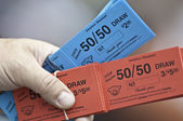 Red and Blue Tickets — Stock Photo