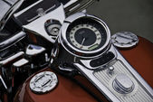 Motor cycle speedometer and gas tank. — Stock Photo