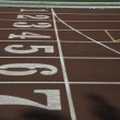 Close up of running lane — Stock Photo