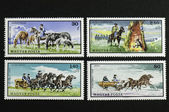 Four Hungarian stamps — Stock Photo