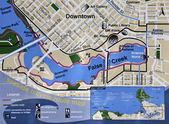Seaside bicycle route map — Stock Photo