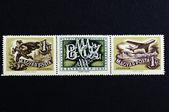 957 Hungarain Stamps Series — Stock Photo