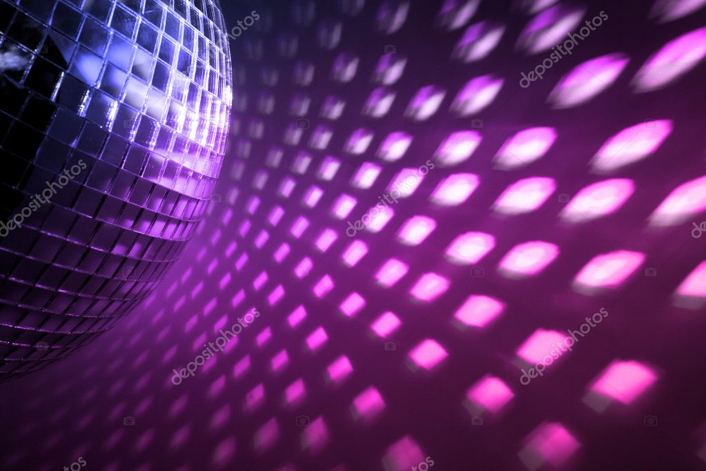 Purple disco lights backdrop — Stok fotoğraf #2574391