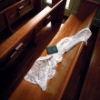 Stock Photo: Veil on Church Pew - clipping path