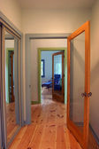 Doors and Hallway - clipping path — Stock Photo