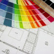 Plans and color — Stock Photo